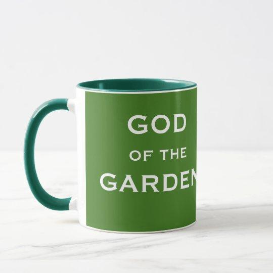 Funny Gardening Gift - God of the Garden Joke Name Mug