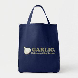 Funny Garlic Tote Bags