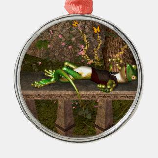 Funny gecko ornaments