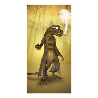Funny gecko photo cards