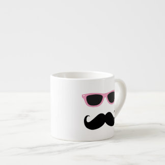 Funny Geeky Pink Sunglasses with mustache