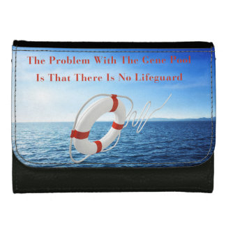 Funny Gene Pool Lifeguard Leather Wallet
