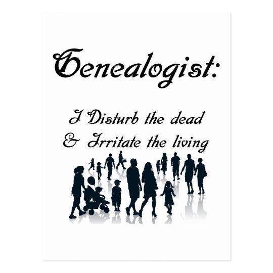 Funny Genealogy  Postcard