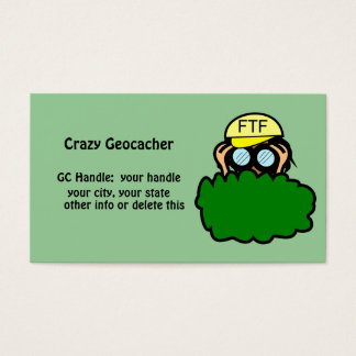 Funny Geocacher Geocaching Handle Signature Card