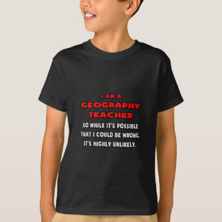 Funny Geography Teacher .. Highly Unlikely Tee Shirt