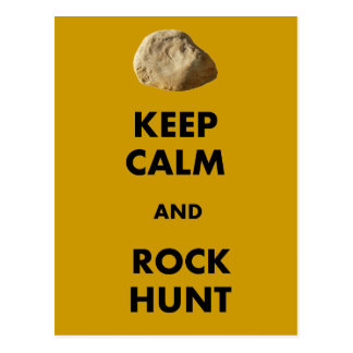 "Funny Geologist Gifts ""Keep Calm and...."" Postcard"