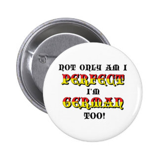 Funny German 6 Cm Round Badge
