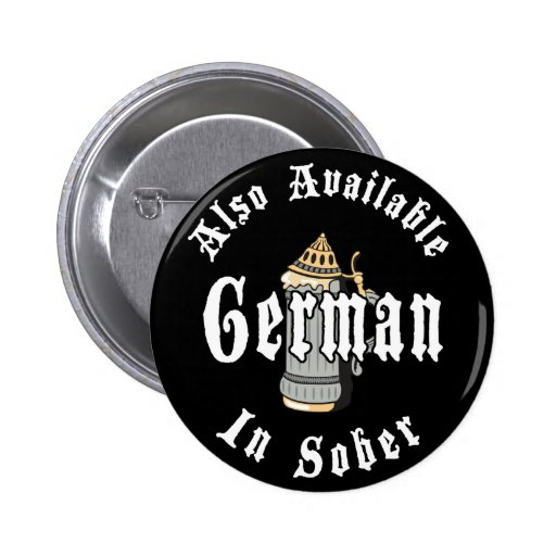 Funny German Drinking Buttons