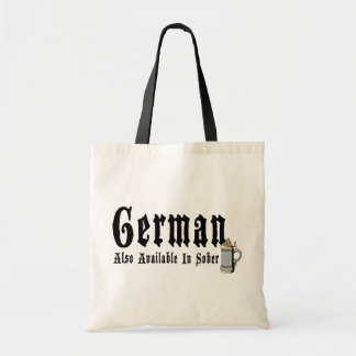 Funny German Drinking Budget Tote Bag