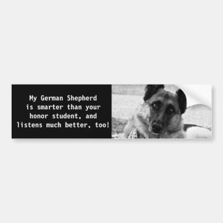 Funny German Shepherd Bumper Sticker