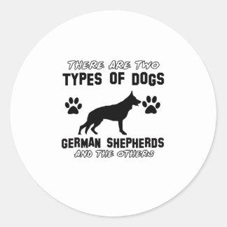 Funny german shepherd designs round sticker