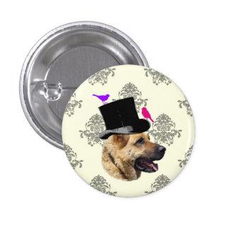 Funny German shepherd dog 3 Cm Round Badge