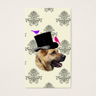 Funny German shepherd dog Business Card