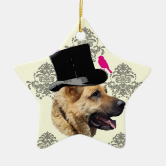 Funny German shepherd dog Christmas Ornament