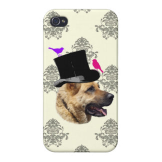 Funny German shepherd dog iPhone 4/4S Cover