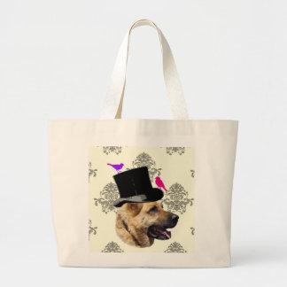 Funny German shepherd dog Jumbo Tote Bag