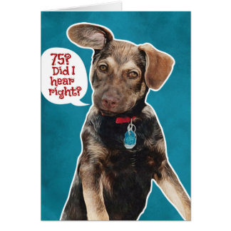 Funny German Shepherd Puppy 75th Birthday Card