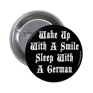 Funny German Sleep With A German 6 Cm Round Badge