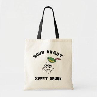 Funny German Sour Kraut Sweet Drunk Budget Tote Bag