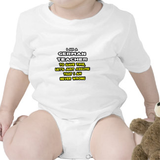Funny German Teacher T-Shirts and Gifts Romper