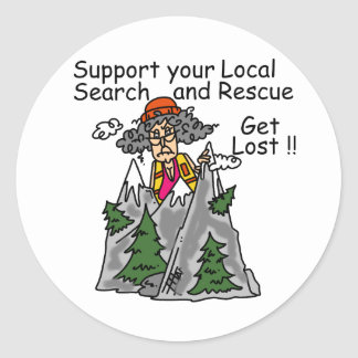 Funny Get Lost Classic Round Sticker
