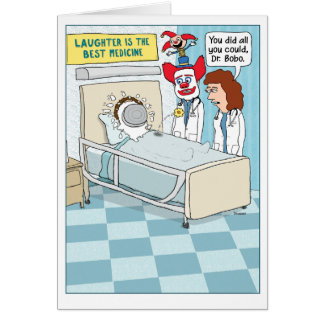 Funny Get Well Card: Clown Doctor Card