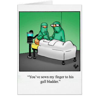 Funny Get Well Greeting Card