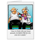 Funny Get Well Humour Greeting Card