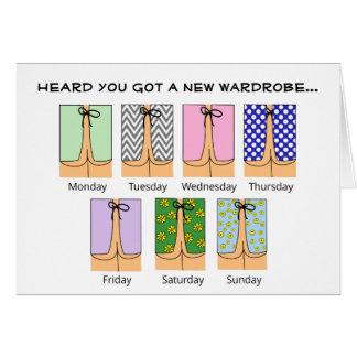 Funny Get Well Soon Card Hospital Wardrobe Cartoon