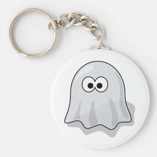 Funny Ghost Basic Round Button Key Ring