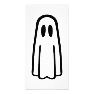 Funny ghost face picture card