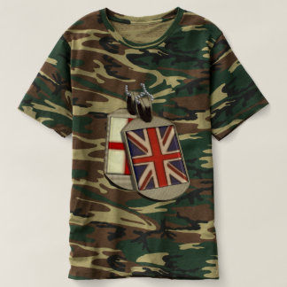 Funny Giant English Dog Tags T-Shirt