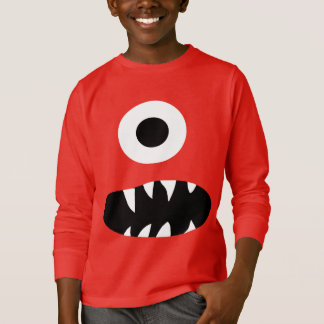 Funny Giant One Eyed Monster Face Kids Colourful T-Shirt
