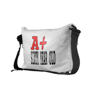 Funny Gifts for 60th Birthdays : A+ Sixty Year Old Messenger Bags