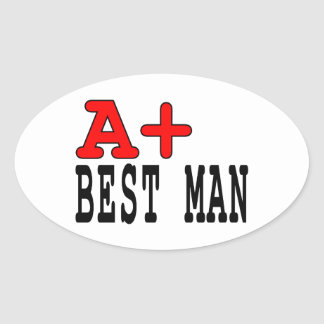 Funny Gifts for Best Men : A+ Best Man Stickers