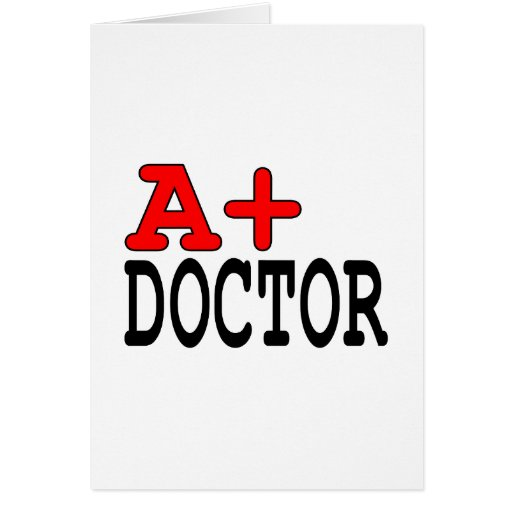 Funny Gifts for Doctors : A+ Doctor Card