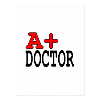 Funny Gifts for Doctors : A+ Doctor Postcard