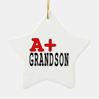 Funny Gifts for Grandsons : A+ Grandson Christmas Ornament