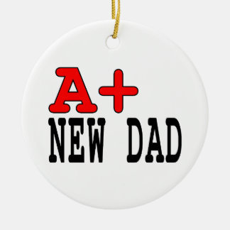 Funny Gifts for New Dads : A+ New Dad Christmas Ornament