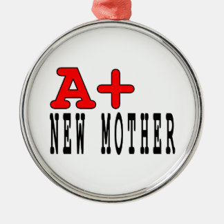 Funny Gifts for New Moms : A+ New Mother Christmas Ornament