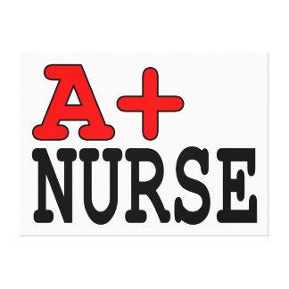 Funny Gifts for Nurses : A+ Nurse Canvas Print