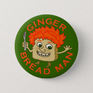 Funny Ginger Bread Man Christmas Pun 6 Cm Round Badge