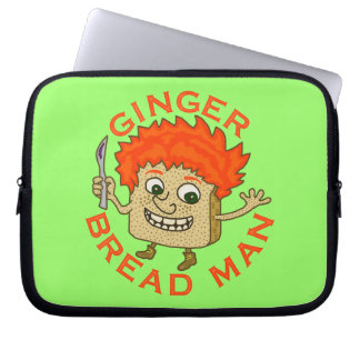 Funny Ginger Bread Man Christmas Pun Laptop Computer Sleeves
