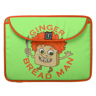 Funny Ginger Bread Man Christmas Pun MacBook Pro Sleeves