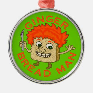 Funny Ginger Bread Man Christmas Pun Silver-Colored Round Decoration