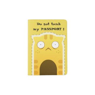 Funny Ginger cat Passport Holder