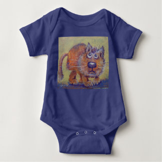 Funny Ginger Kitty Baby Bodysuit