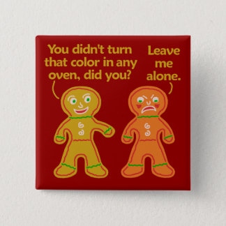 Funny Gingerbread Fake Tan Christmas 15 Cm Square Badge