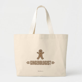 Funny Gingerbread Large Tote Bag