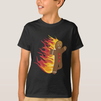 Funny Gingerbreadman on fire T-Shirt